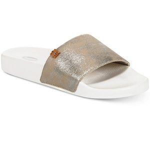 ❗️NEW❗️Dr Scholl Silver Splatter Palm Slide/Size9